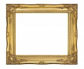 Old gold classic frame. The antique, vintage picture frame