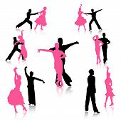 picture of jive  - Silhouettes of dancing couples - JPG