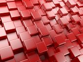 3D Abstract Background Of Cubes