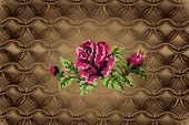 embroidered pink rose