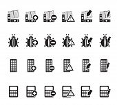 Silhouette 24 Business, office and website icons