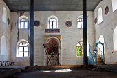 Old Abandoned Greek, Turkish Mosque In Doganbey Aydin Turkey