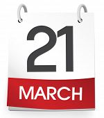Vector of the twenty first of March.
