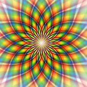 Illustration of a rainbow pattern