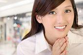 Beautiful Asian business woman portrait .
