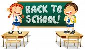 Illustration of back to school sign