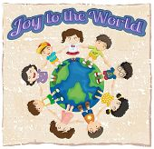 A joy to the world template on a white background