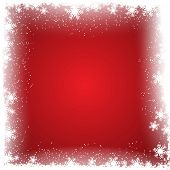 Christmas background with a snowflake border