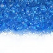 Christmas background with snowflakes and stars