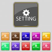 Cog Settings Sign Icon