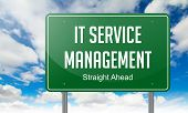 IT Service Management on Green Highway Signpost.