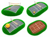 Sport Concepts - Set of 3D Illustrations.