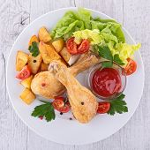 fried chicken leg
