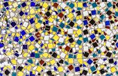 Ceramic Colorful Tiles Mosaic Abstract Composition Pattern Background