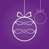 Abstract Christmas Decoration On Purple Background