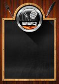 Blackboard For Barbecue Menu