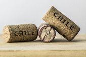 Wine bottle corks of Chile 02