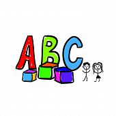 A B C Letter Color Vector