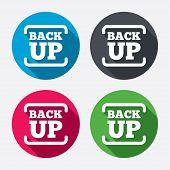 Backup date sign icon. Storage symbol.