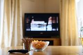 Television, Tv Watching (movie) With Snacks Lying On Table poster