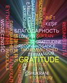 picture of gratitude  - Background concept wordcloud multilanguage international many language illustration of gratitude glowing light - JPG