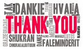 stock photo of thankful  - Thank You international word cloud on a white background - JPG