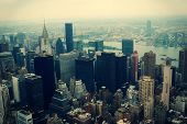 picture of empire state building  - New York City Manhattan aerial view from Empire State Building - JPG