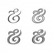 picture of ampersand  - Collection of custom decoration ampersands for wedding letterpress invitation - JPG