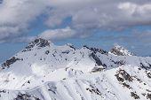 picture of sochi  - Cloudy mountain landscape of Krasnaya Polyana - JPG