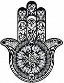 picture of hamsa  - Tattoo element for your design - JPG