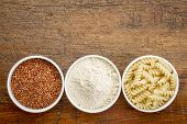picture of ceramic bowl  - gluten free quinoa grain - JPG