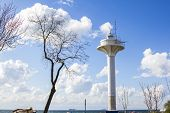 stock photo of observed  - observation tower on the shore of the Sea of Marmara in Istanbul - JPG