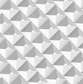 pic of pyramid shape  - Vector Abstract geometric shape from gray cubes - JPG