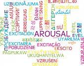 foto of arousal  - Background concept wordcloud multilanguage international many language illustration of arousal - JPG