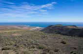 image of canary-islands  - Volcanic landscape of the island of Lanzarote Canary Islands Spain - JPG