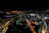 stock photo of minato  - Night View of Minato Mirai 21 in Yokohama - JPG