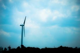 image of wind vanes  - The wind turbine generator the renewable energy - JPG