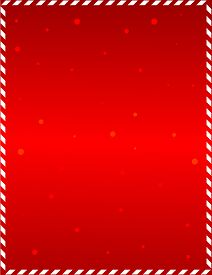 picture of candy cane border  - Elegant red frame with candy cane border and falling snow - JPG
