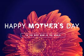 picture of floral design  - Happy Mother day quote concept vintage retro flower close up background ideal for greeting card and poster design - JPG