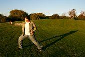 Karate Training In Park