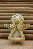 Small And Cute Angel With Wings And Aureol poster
