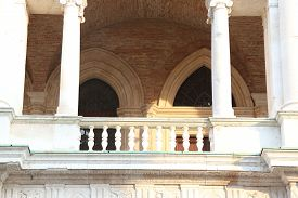 picture of vicenza  - Vicenza Italy detail of the columns of the artistic historical building on the main square - JPG