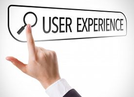 stock photo of experiments  - User Experience written in search bar on virtual screen - JPG