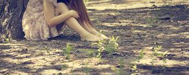 pic of fairies  - Photo of romantic woman in fairy forest - JPG