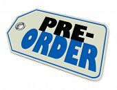 Pre-Order Buy Purchase Shopping Tag 3d Illustration poster