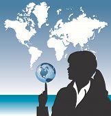 Map Businesswoman