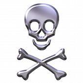 3D Silver Skeleton