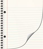 pic of lined-paper  - nice image of a book of ruled or lined paper - JPG