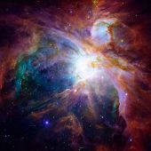 Hubble Panoramic View Of Orion Nebula Reveals Thousands Of Stars poster