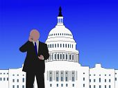 pic of lobbyist  - Senator talking on phone at capitol hill Washington DC - JPG